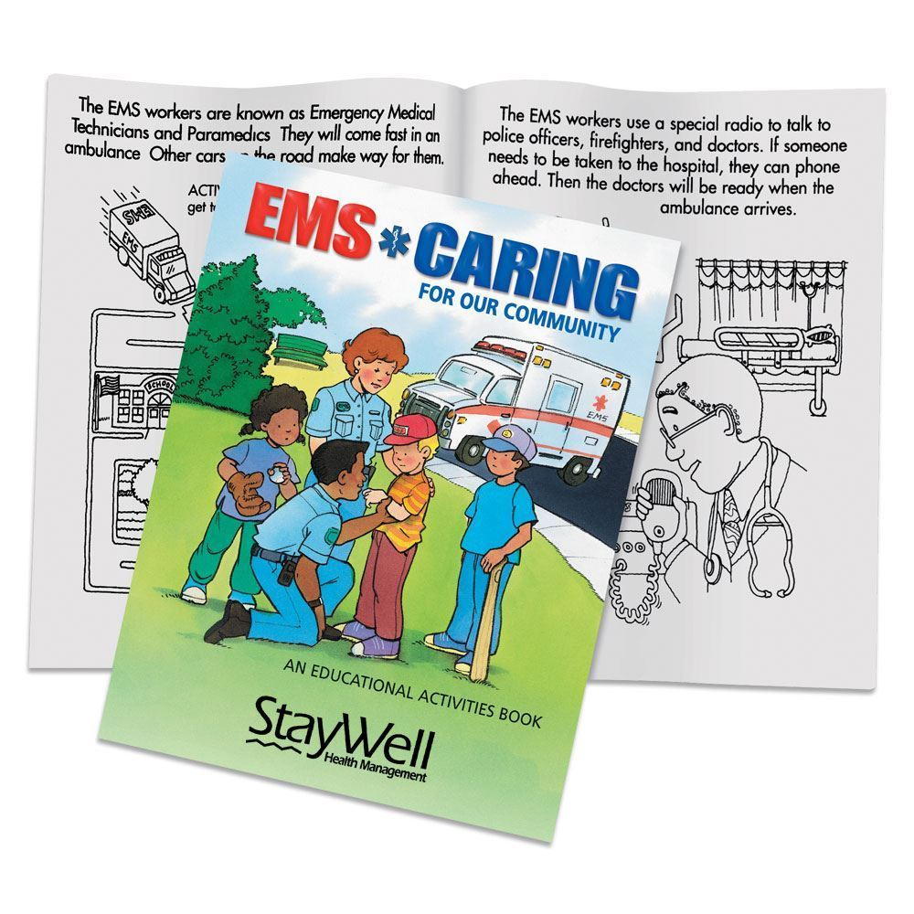 EMS: Caring For Our Community Educational Activities Book - Personalization Available
