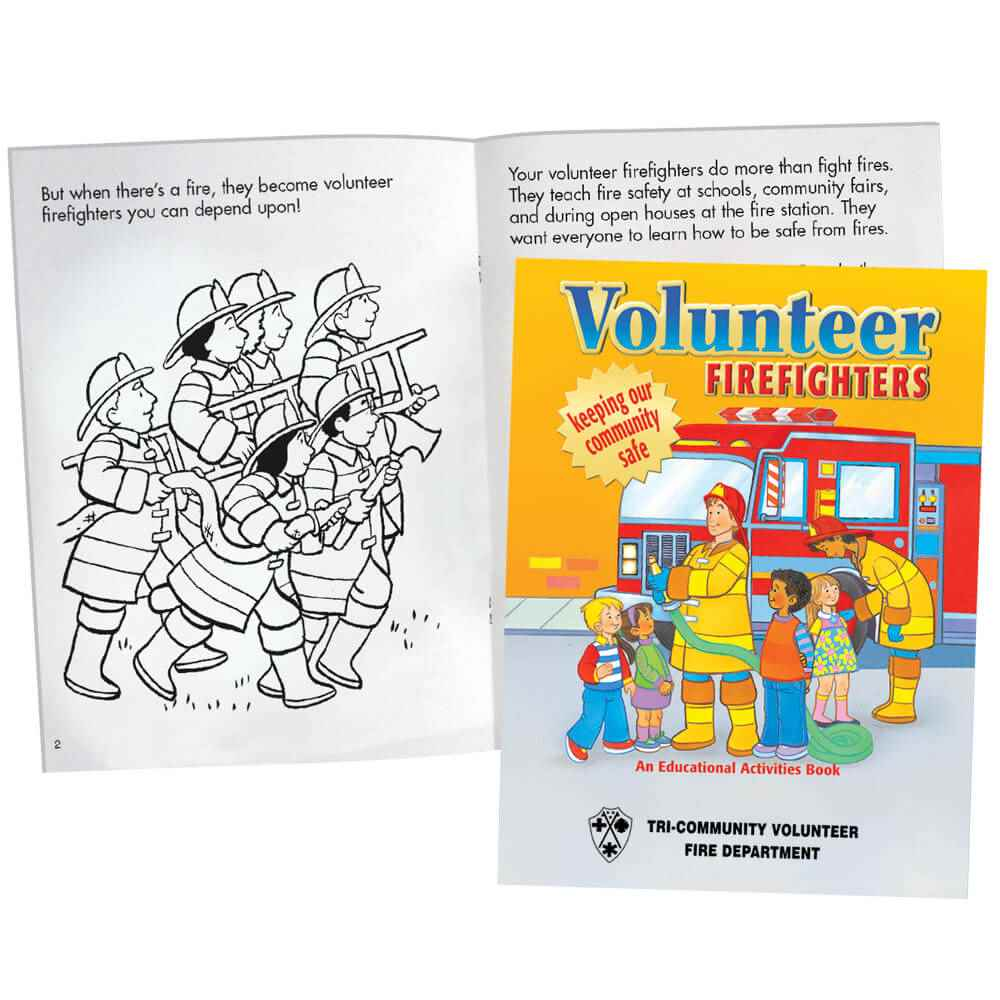 Volunteer Firefighters Educational Activities Book - Personalization Available