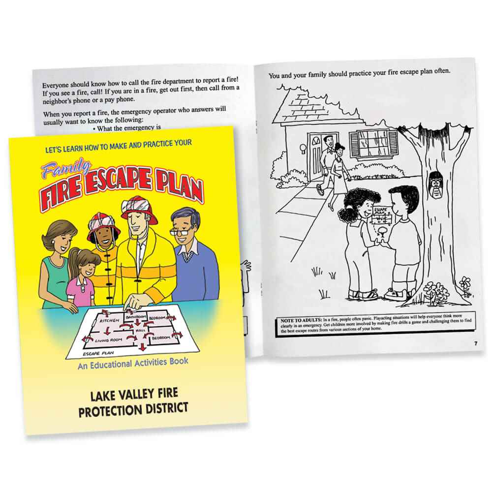 Let's Learn How To Make And Practice Your Family Fire Escape Plan Educational Activities Book - Personalization Available