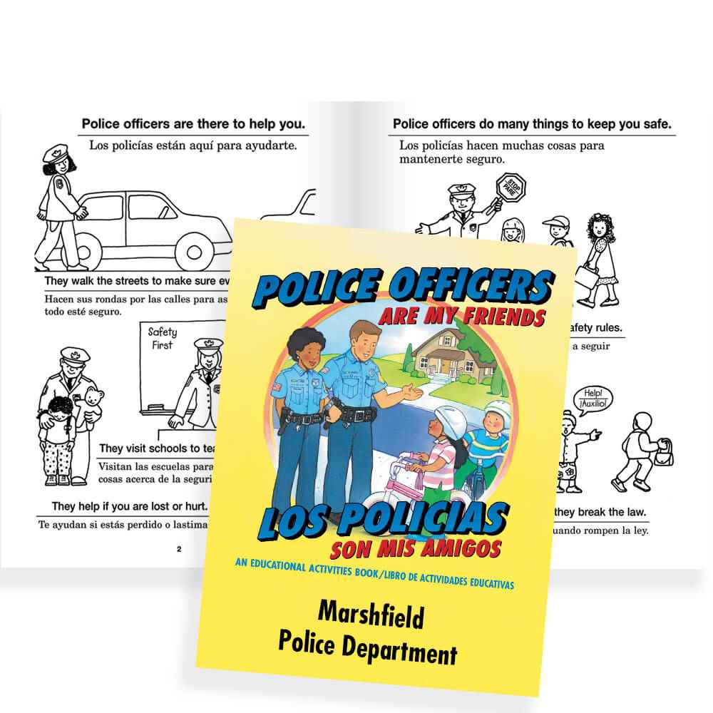 Police Officers Are My Friends Educational Activities Book (Bilingual) - Personalization Available