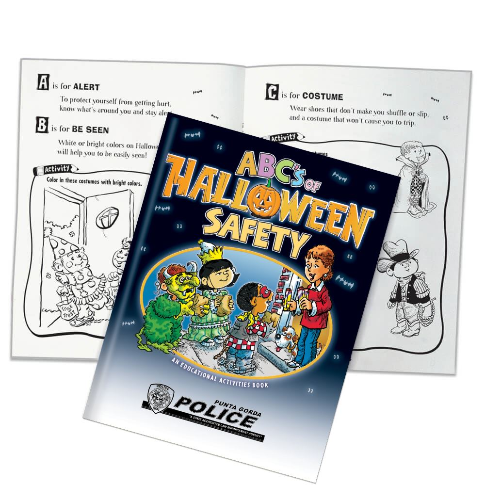 ABC's Of Halloween Safety Educational Activities Book - Personalization Available