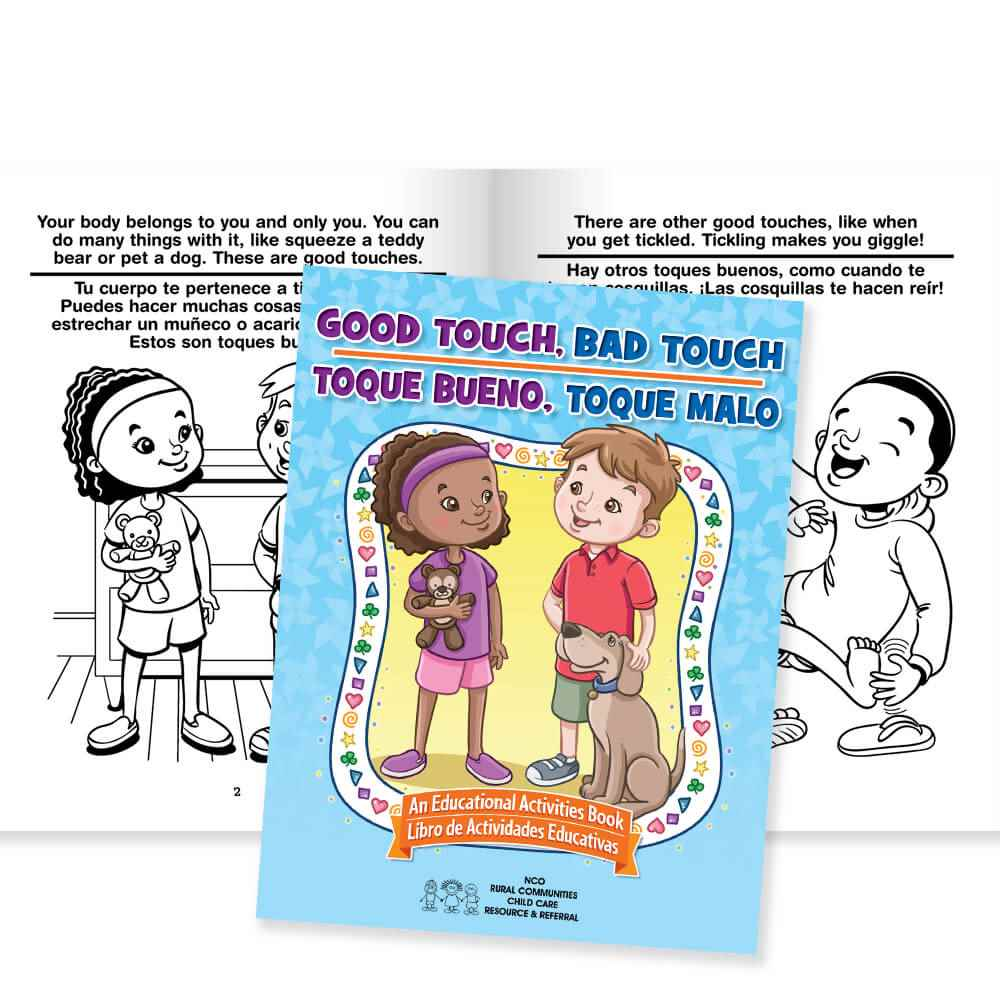 Good Touch, Bad Touch Educational Activities Book English/Spanish - Personalization Available