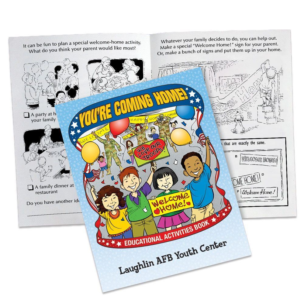 You're Coming Home! Educational Activities Book - Personalization Available