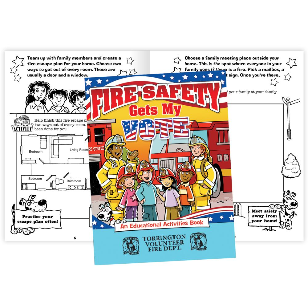 Fire Safety Gets My Vote Educational Activities Book - Personalization Available