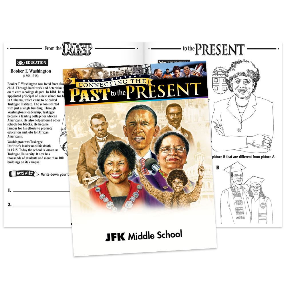 Connecting The Past To The Present Educational Activities Book - Personalization Available