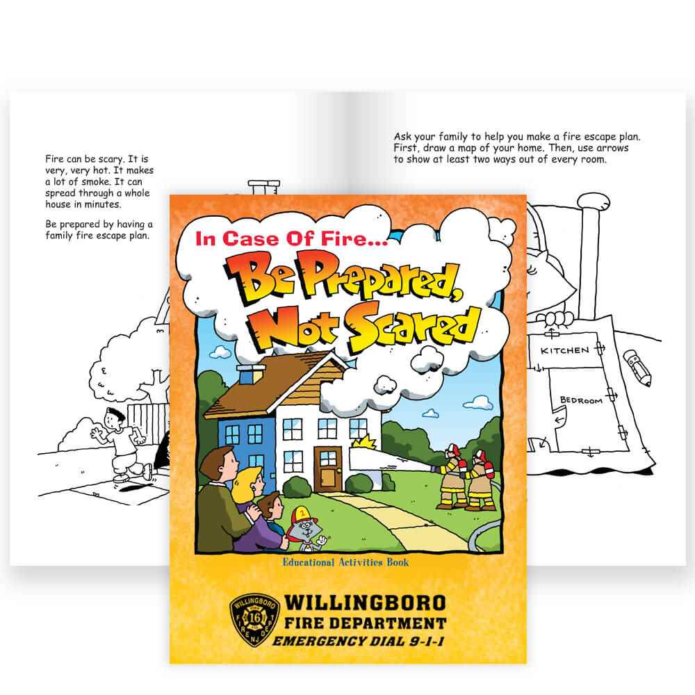 In Case Of Fire Be Prepared, Not Scared Educational Activities Book - Personalization Available