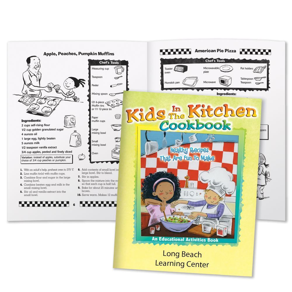 Kids In The Kitchen Cookbook: Healthy Recipes That Are Fun To Make Educational Activities Book - Personalization Available