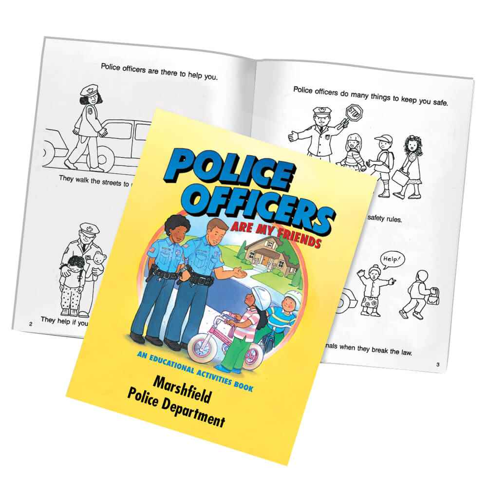 Police Officers Are My Friends Educational Activities Book - Personalization Available