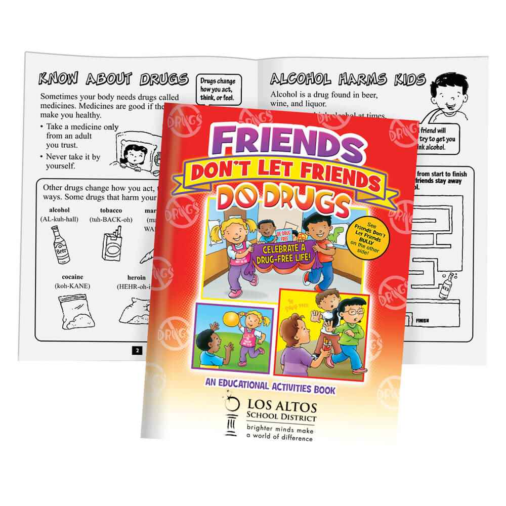 Friends Don't Let Friends Bully Or Do Drugs 2-In-1 Activity Flipbook - Personalization Available
