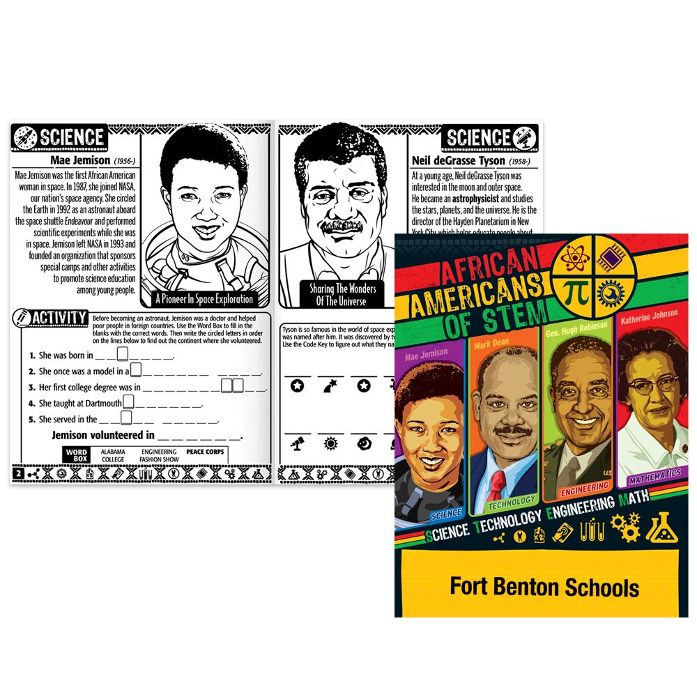 African Americans of STEM Educational Activities Book - Personalization Available