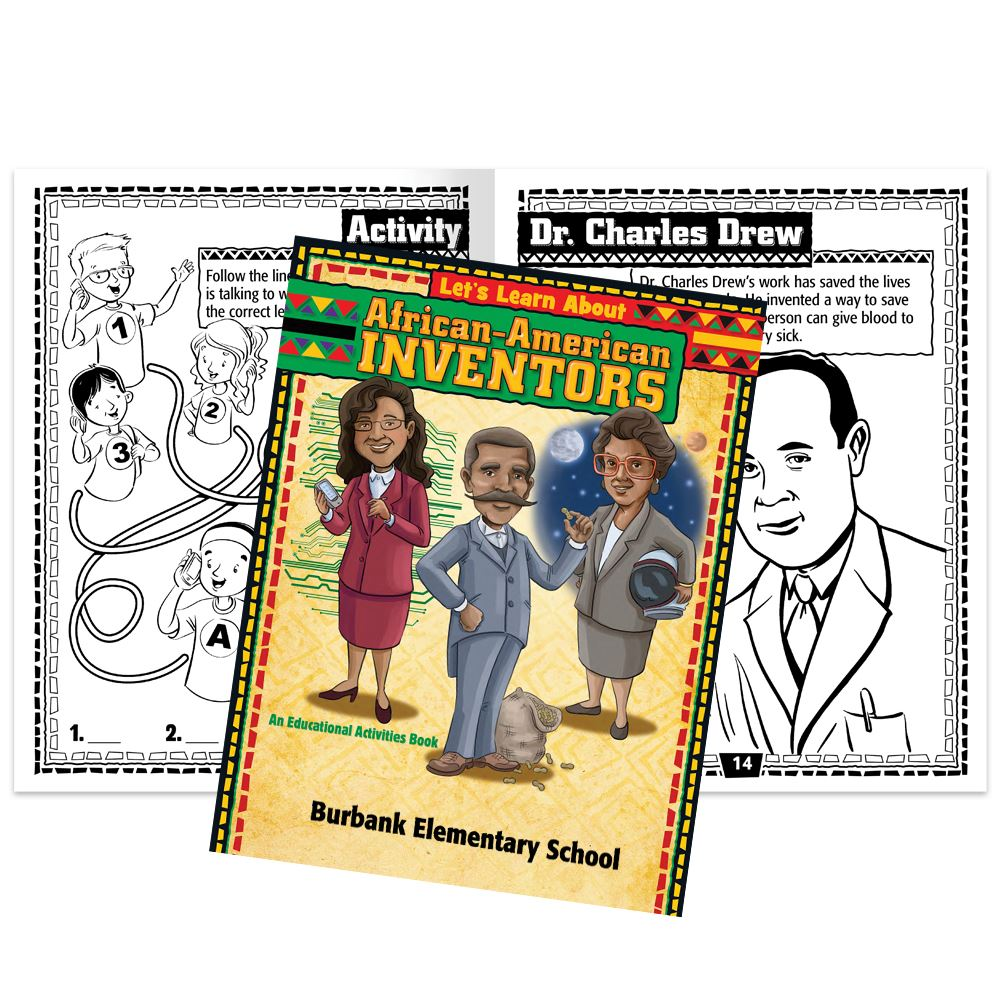Let's Learn About African-American Inventors Educational Activities Book - Personalization Available