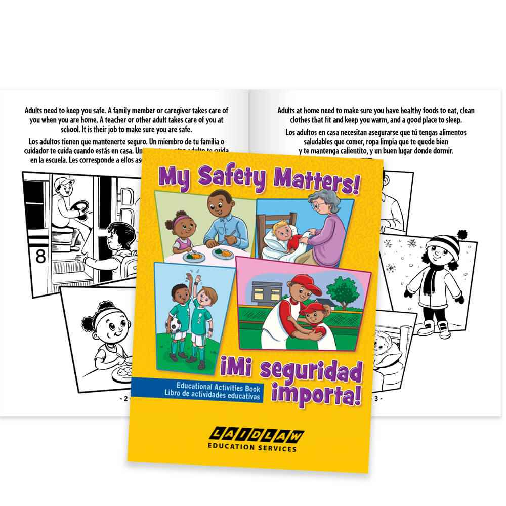 My Safety Matters! English/Spanish Educational Activities Book - Personalization Available