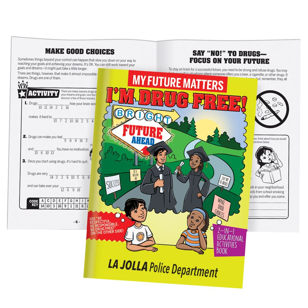My Future Matters, I'm Drug Free! 2-In-1 Flipbook Educational Activities Book