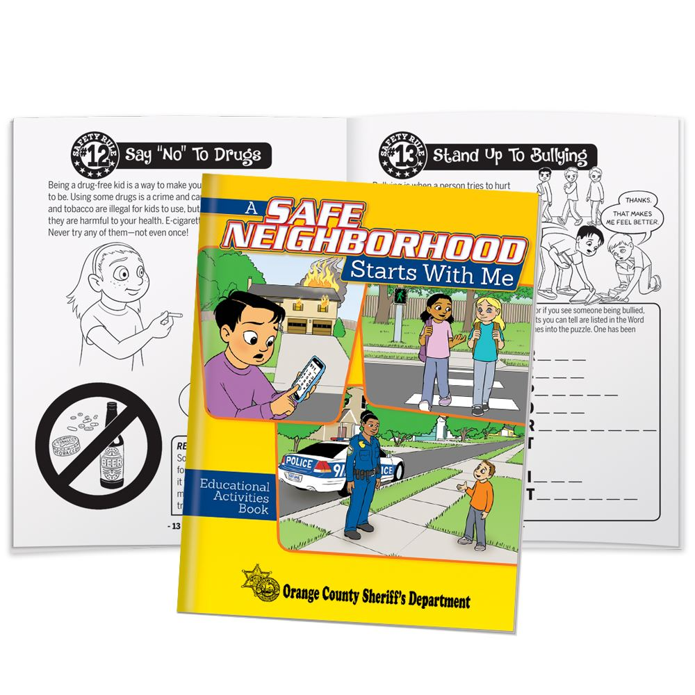 A Safe Neighborhood Starts With Me Educational Activities Book