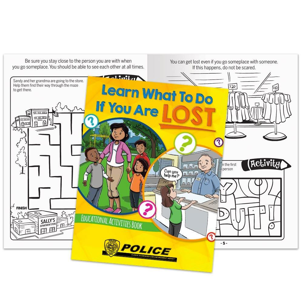Learn What To Do If You Are Lost Educational Activities Book - Personalization Available