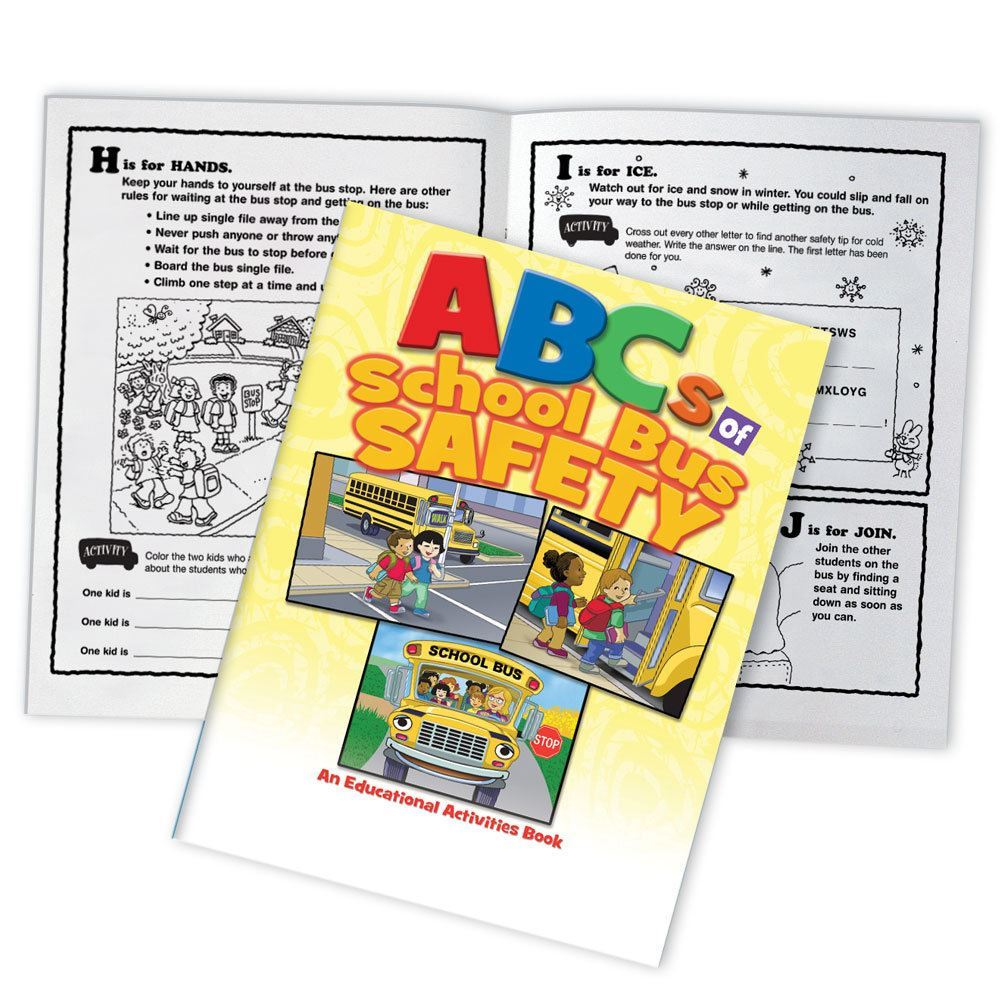 ABCs Of School Bus Safety Educational Activities Book - 50 Per Pack