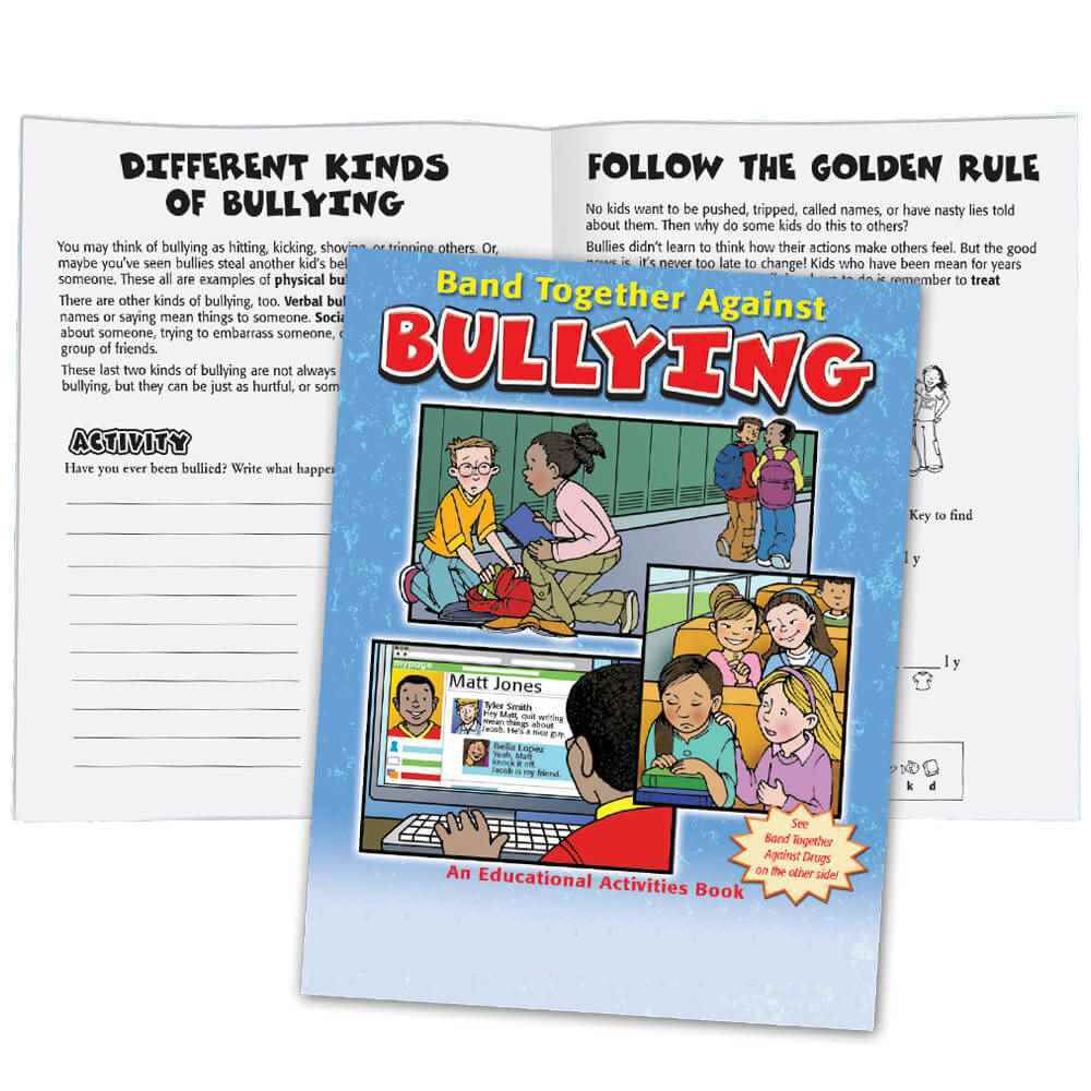 Band Together Against Drugs & Bullying 2-In-1 Flipbook Educational Activities Books - Pack of 50