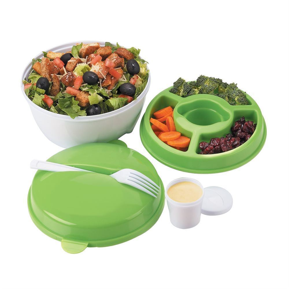 15 Year Gift - Round Food Container With Compartments
