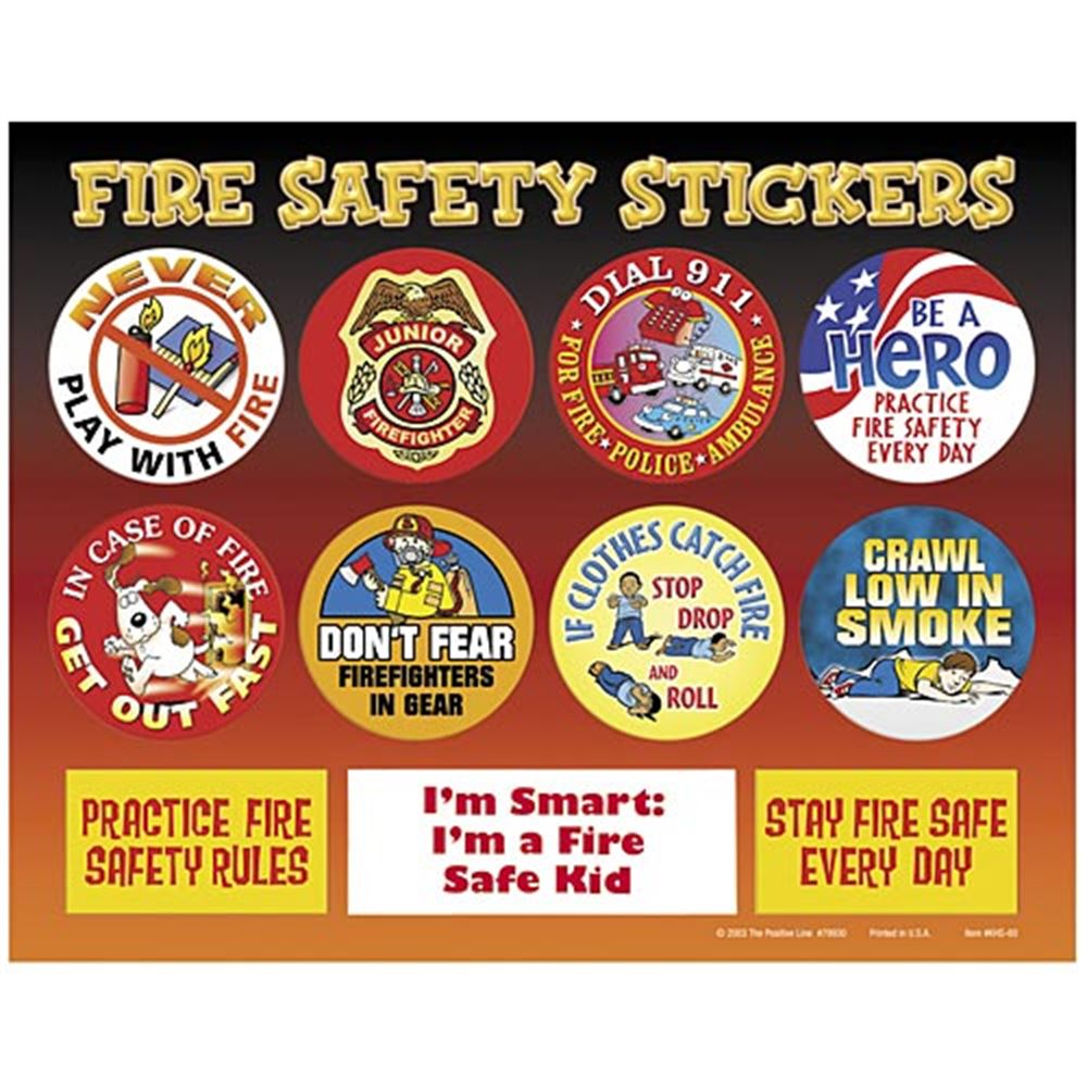 I'm Smart: I'm A Fire Safe Kid Fire Safety Sticker Sheet (Non-Personalized)