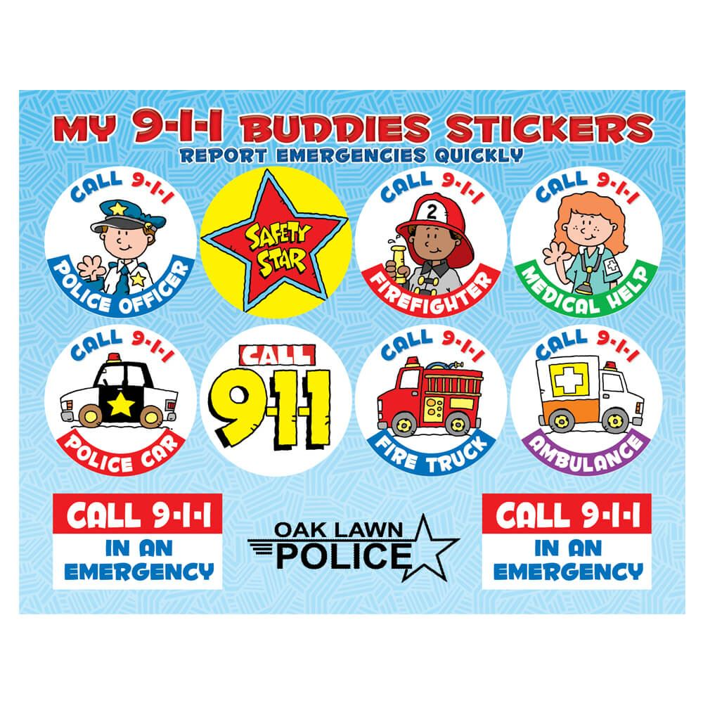 My 9-1-1 Buddies Stickers - Personalization Available