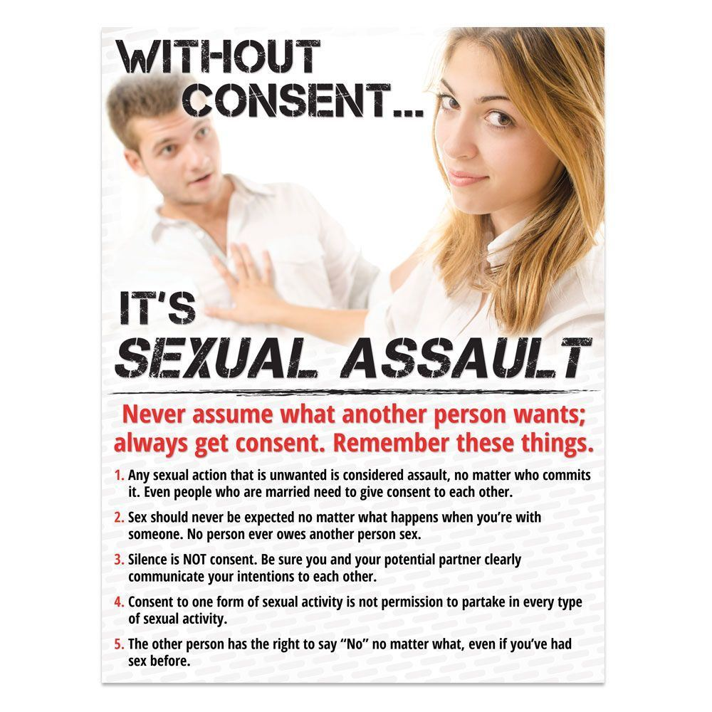 Without Consent...It's Sexual Assault Poster