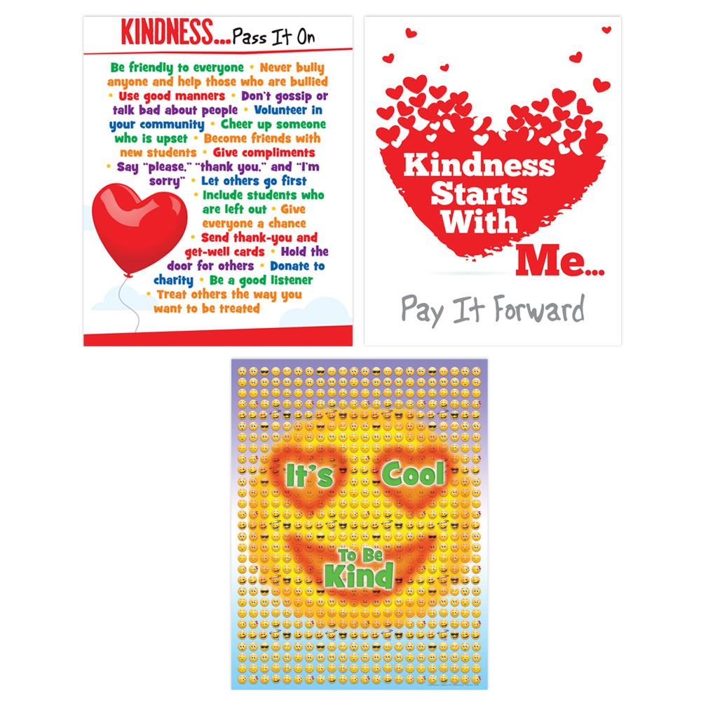 Kindness Laminated Poster Assortment Set
