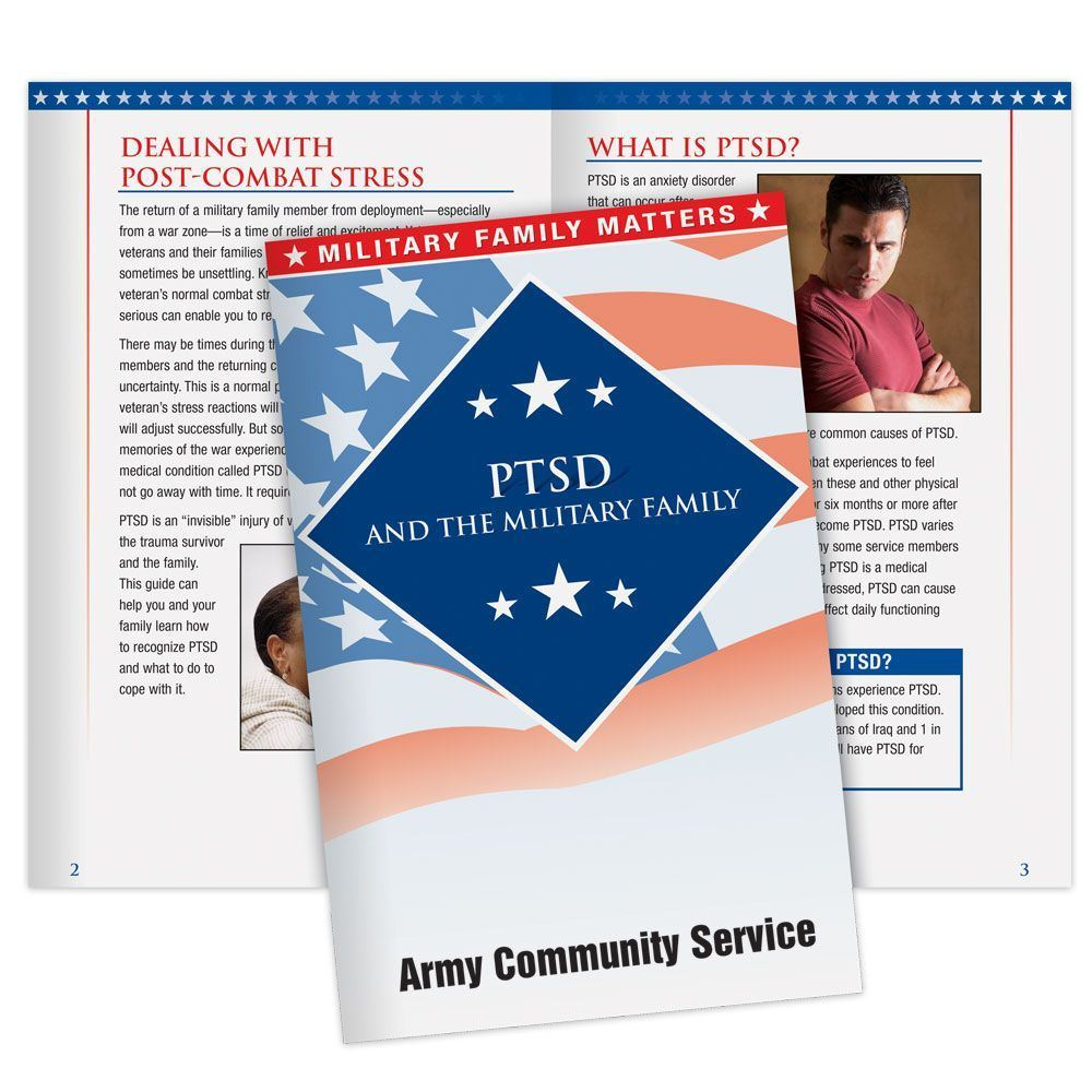 Post-Traumatic Stress Disorder And The Military Family Handbook - Personalization Available