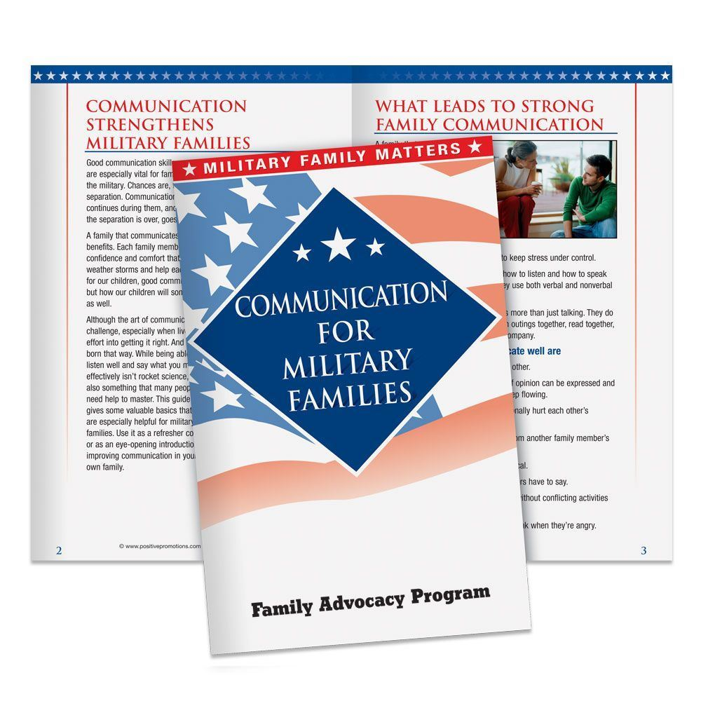 Communication For Military Families Handbook - Personalization Available