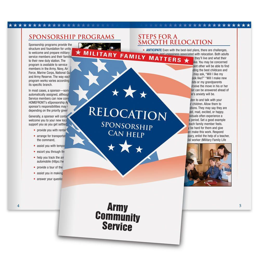 Relocation Sponsorship Can Help Military Family Handbook - Personalization Available