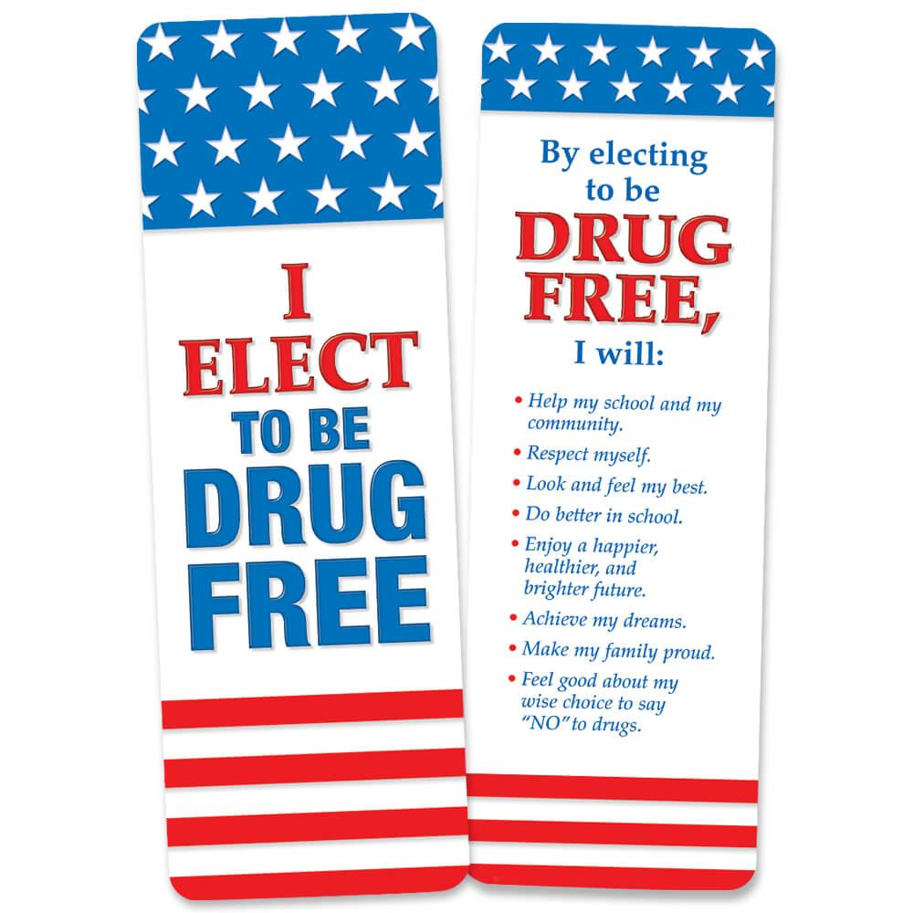 I Elect To Be Drug Free Bookmark - Pack of 100