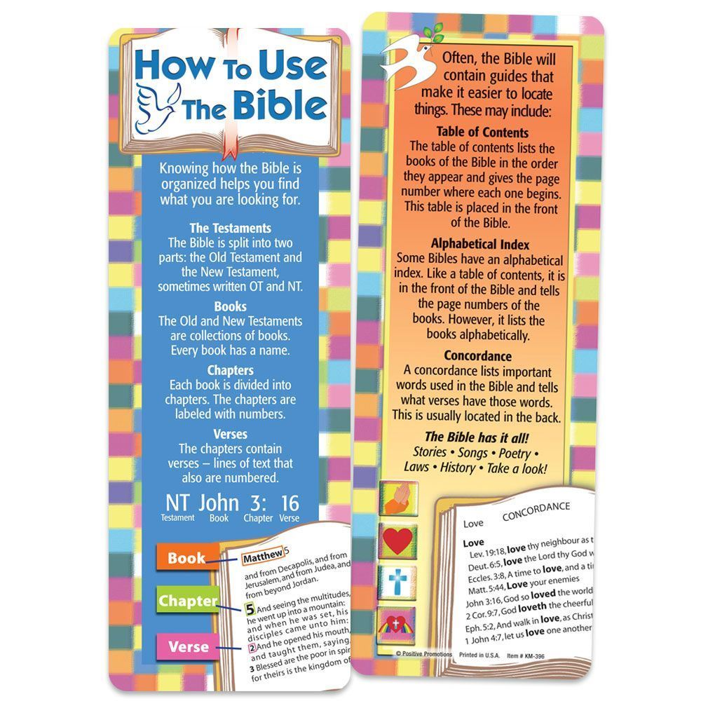 How To Use The Bible Bookmark