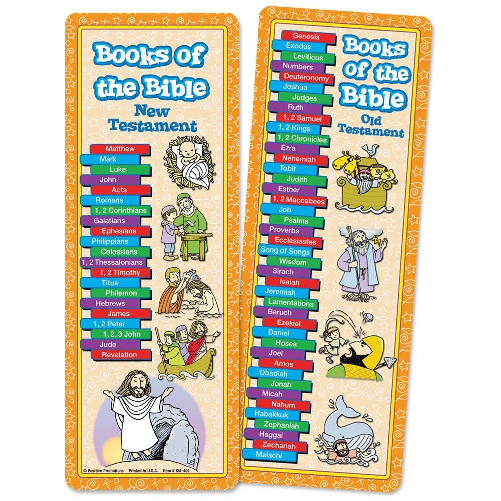 Books Of The Bible Bookmark (Children Design)