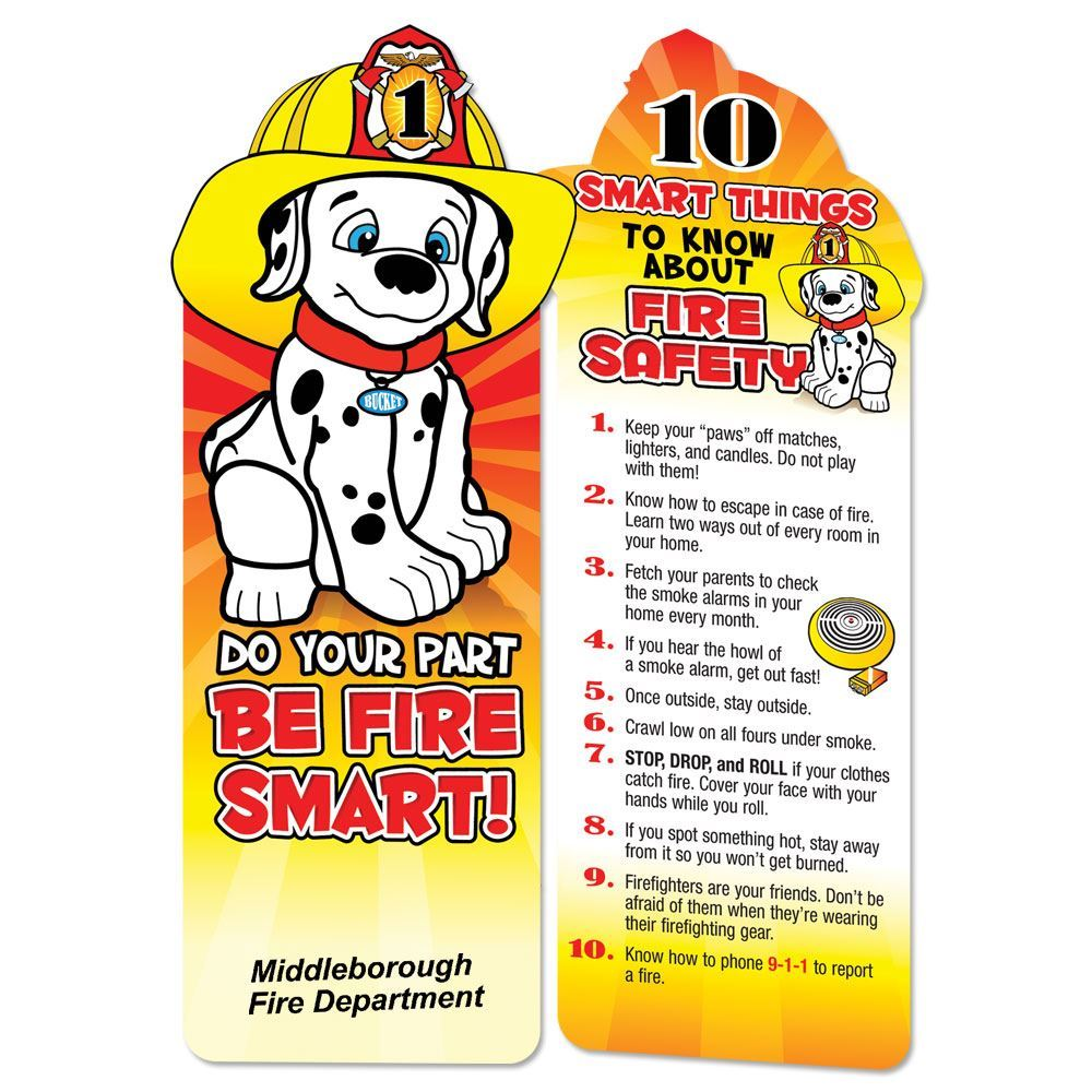 Do Your Part, Be Fire Smart! Die-Cut Bookmark - Personalization Available