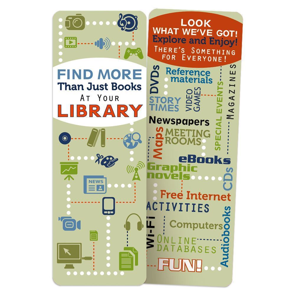 Find More Than Just Books At Your Library Bookmark