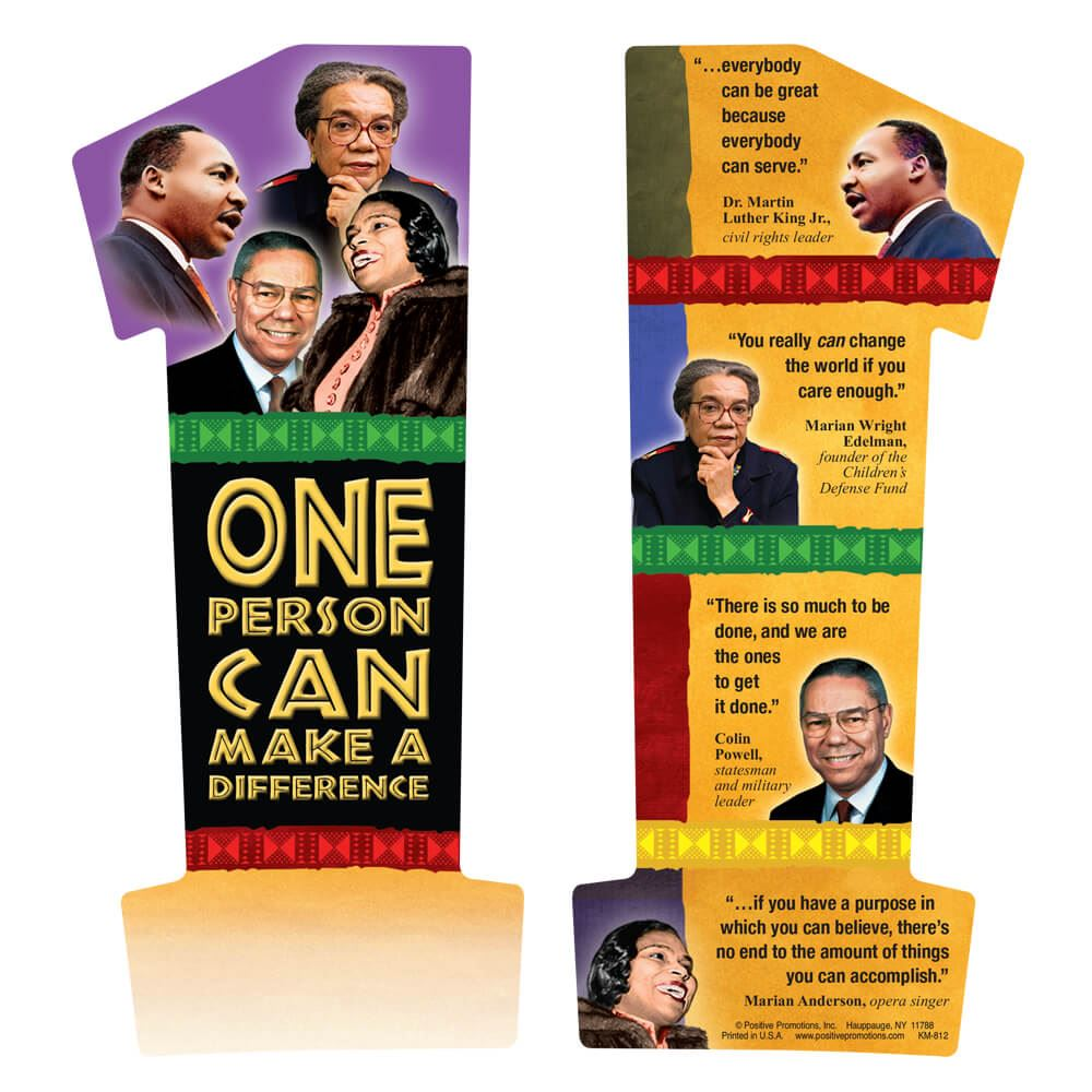 One Person Can Make A Difference Bookmark