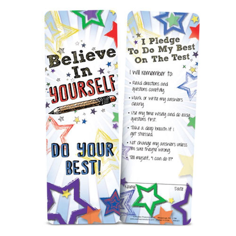 Believe In Yourself - Do Your Best Pledge Bookmark