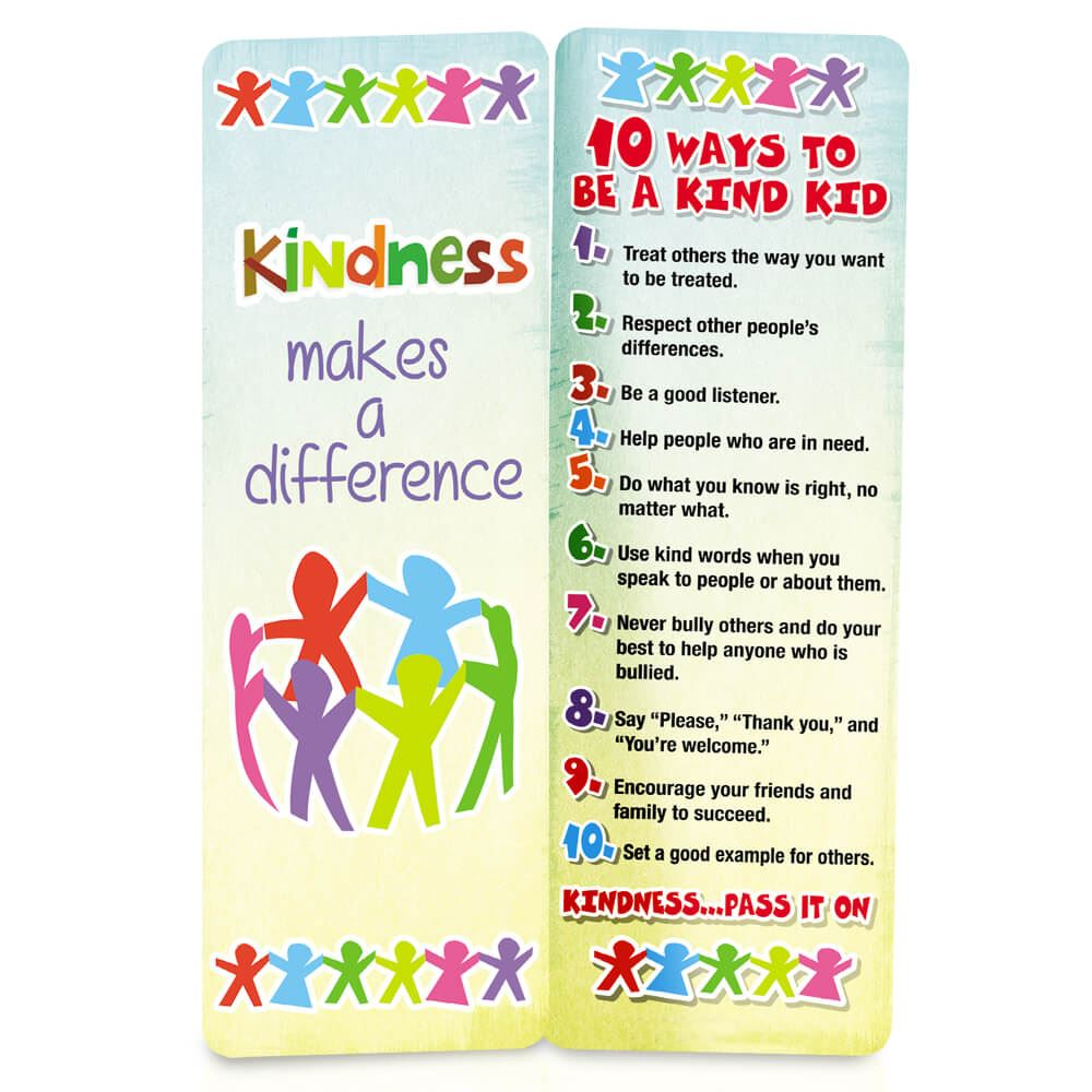 Kindness Makes A Difference Bookmark - Pack of 25