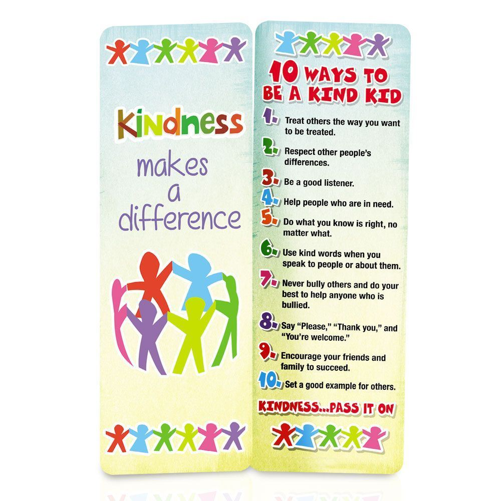 Kindness Makes A Difference Bookmark - Pack of 100