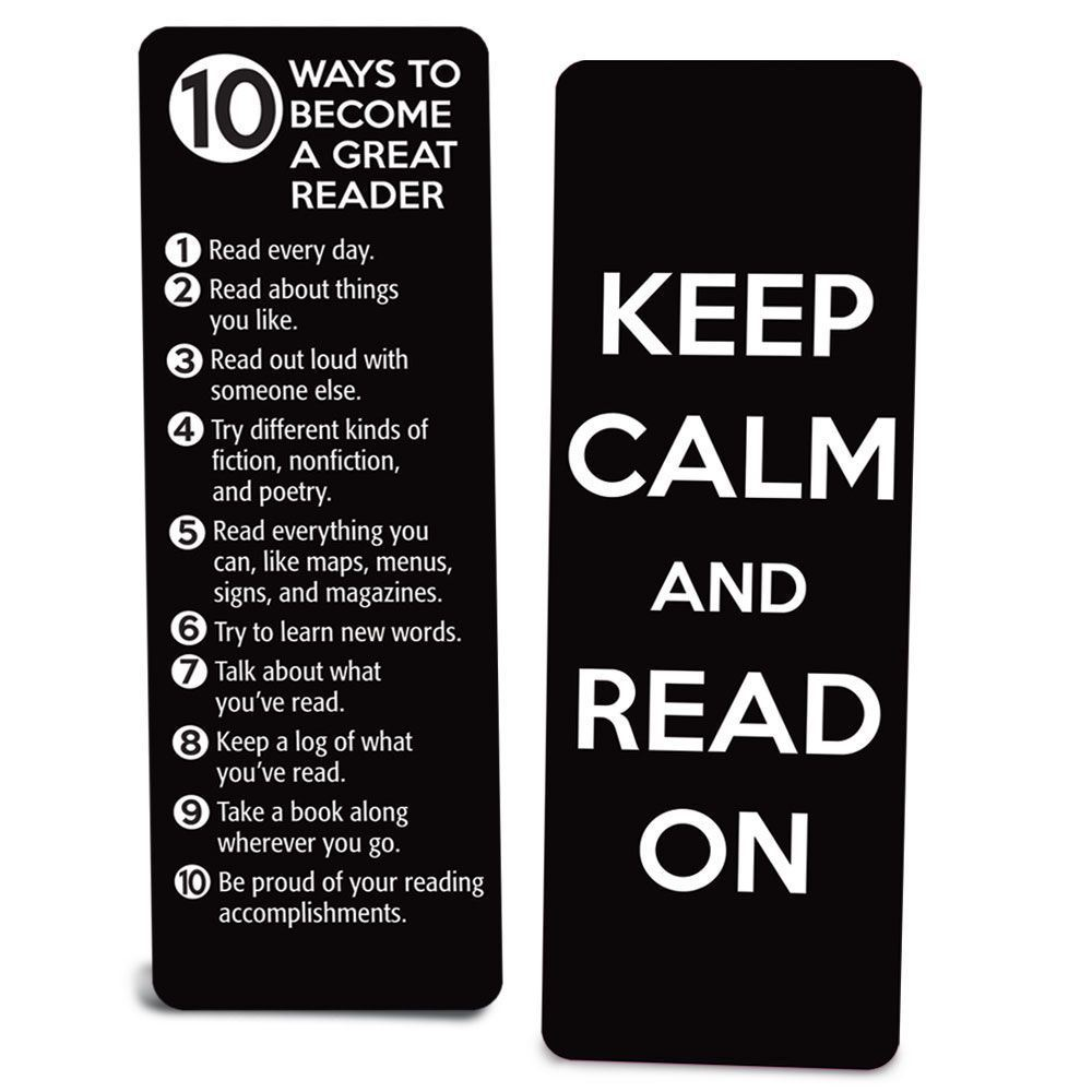 Fabulous Keep Calm And Read On Die-Cut Bookmark | Positive Promotions SG95
