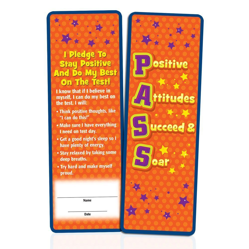 PASS: Positive Attitudes Succeed & Soar Bookmarks