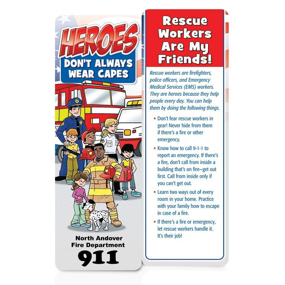 Heroes Don't Always Wear Capes Bookmarks - Personalization Available
