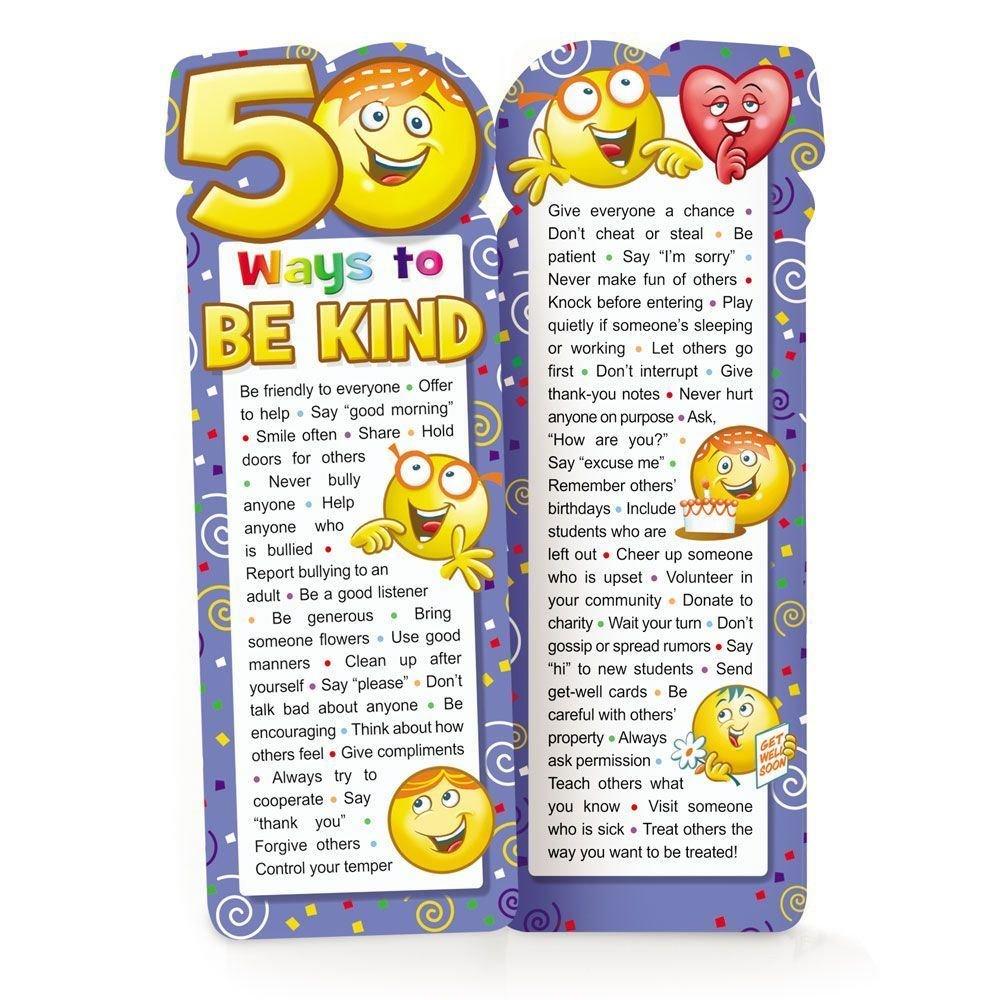 50 Ways To Be Kind Die-Cut Bookmark