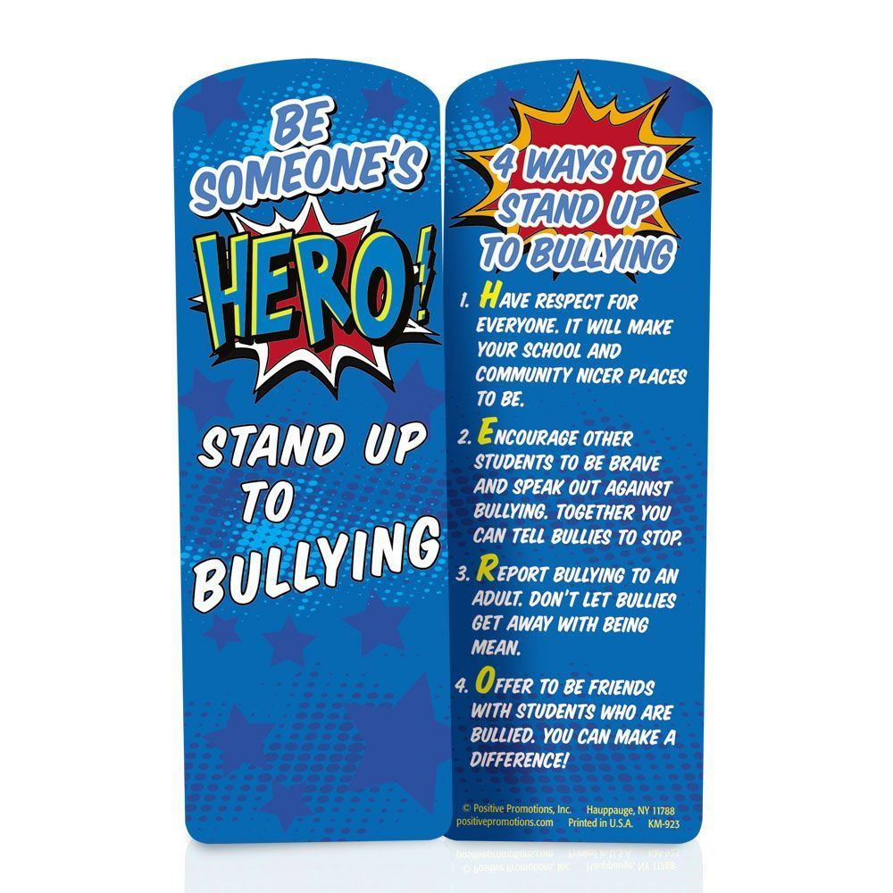 Be Someone's Hero! Stand Up To Bullying Die-Cut Bookmark - 100 Per Pack