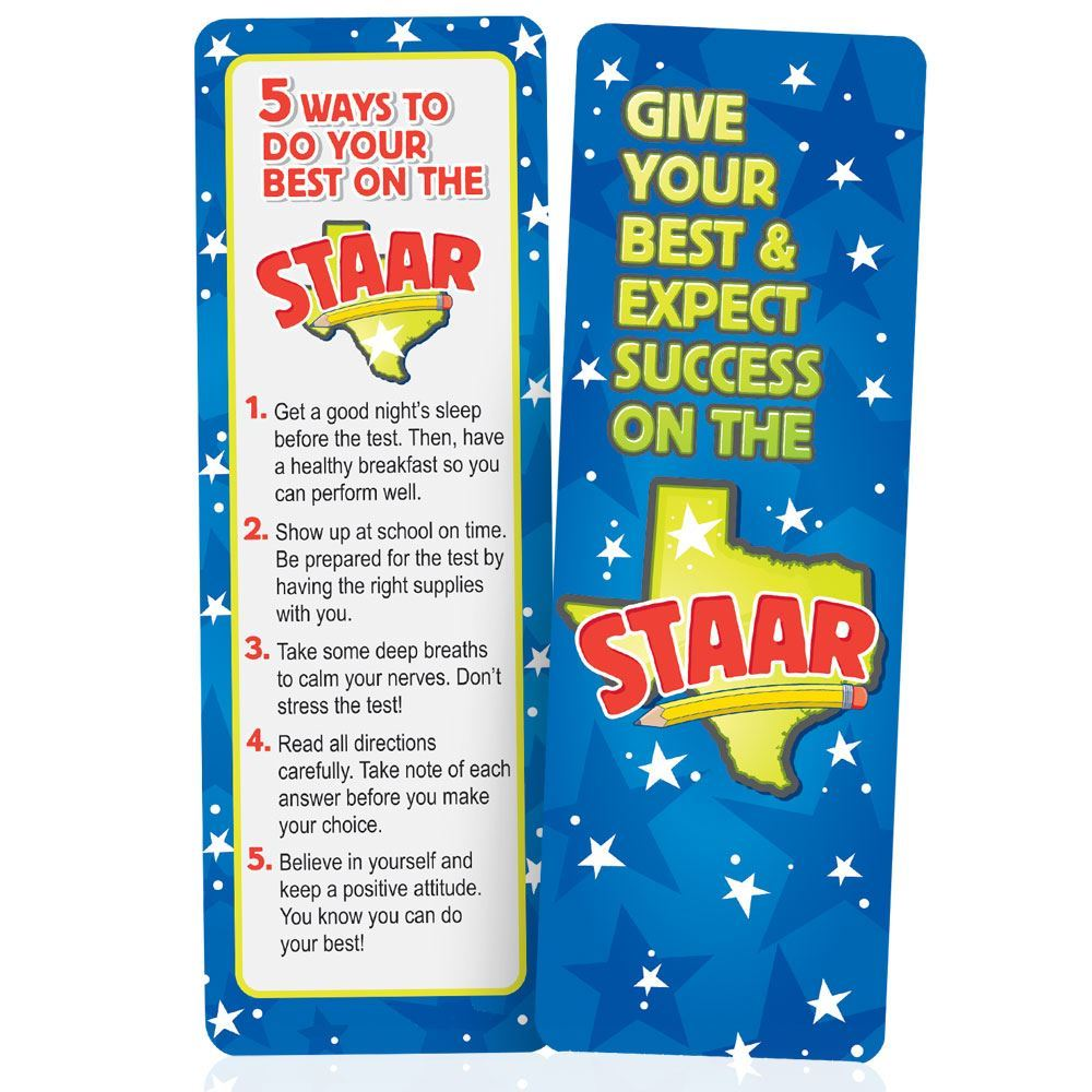Give Your Best & Expect Success On The STAAR Bookmarks - Pack of 25
