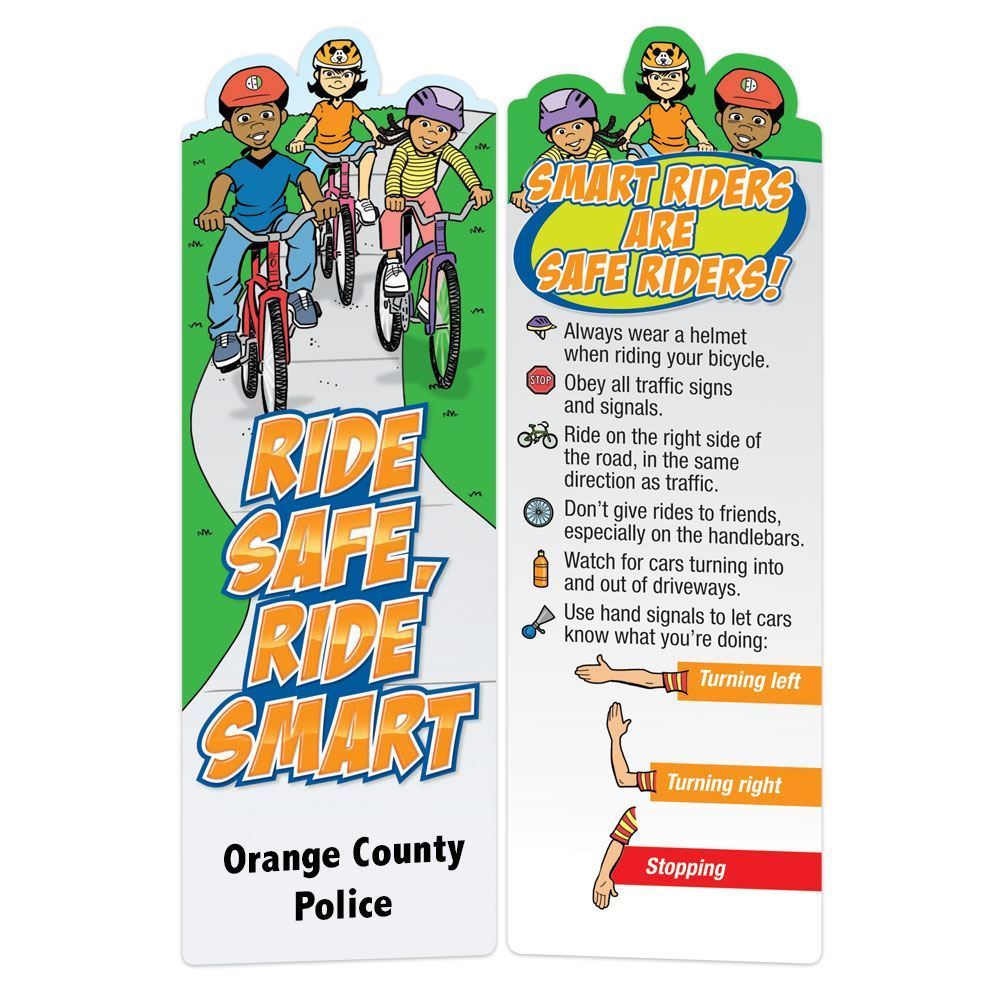 Ride Safe, Ride Smart Die-Cut Bookmark - Personalization Available