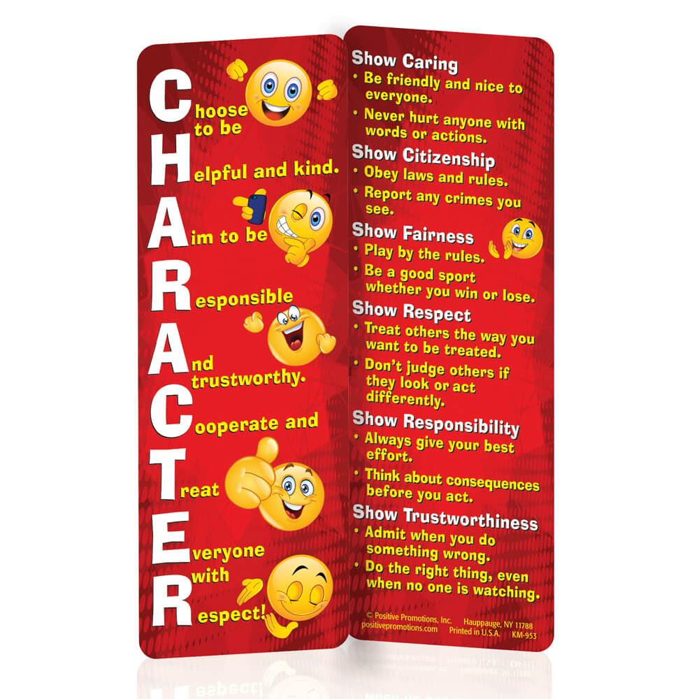 CHARACTER Acronym Bookmarks - Pack of 25