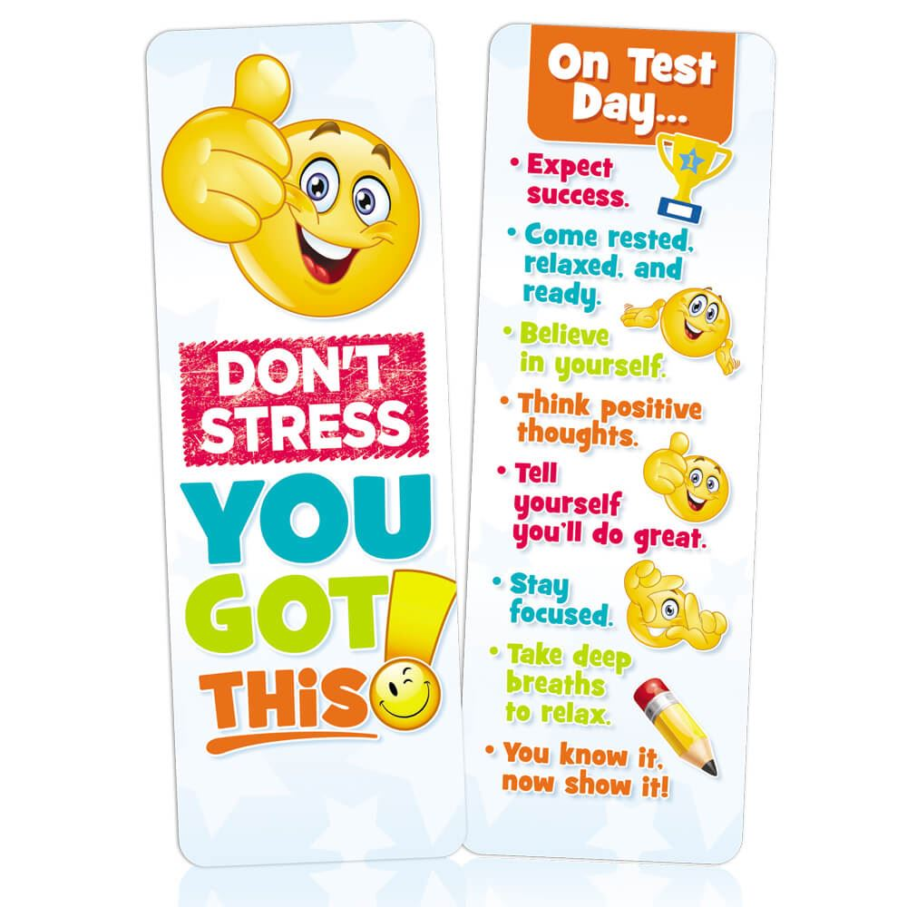 Don't Stress, You Got This! Bookmarks - Pack of 25