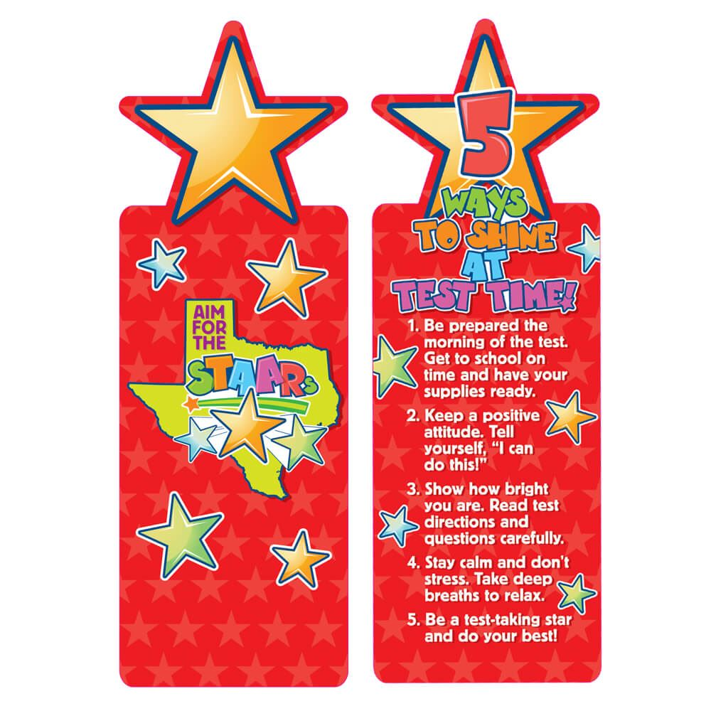 Aim For The STAARs Die-Cut Bookmarks - Pack of 25