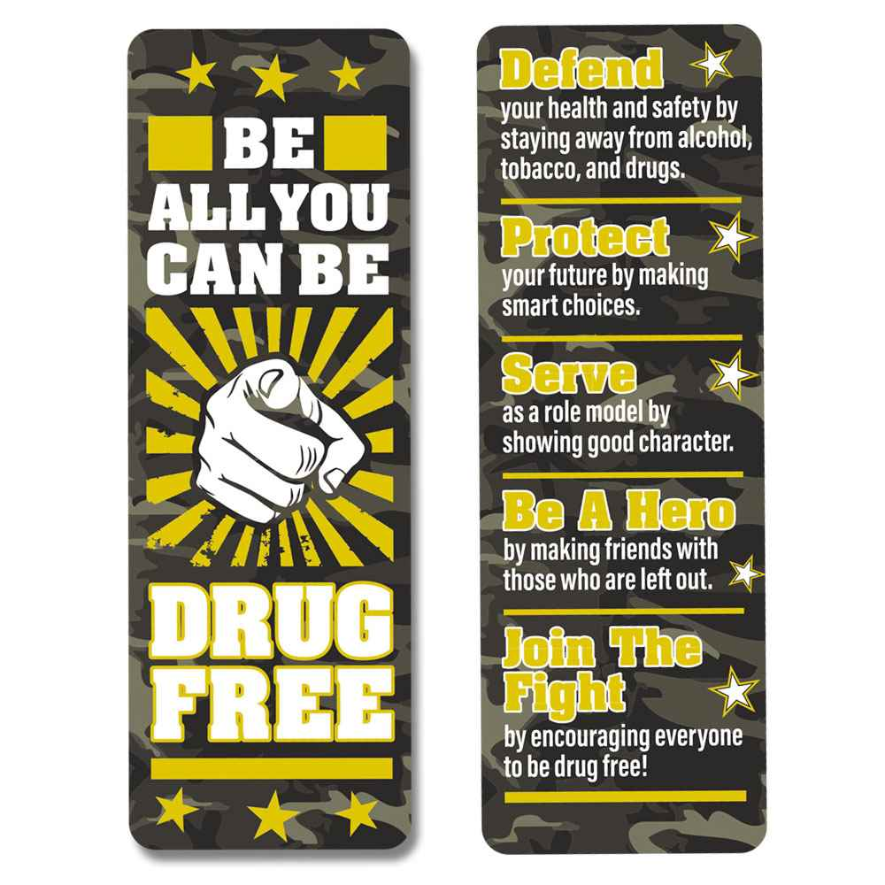 Be All You Can Be Drug Free Bookmarks - Pack of 100