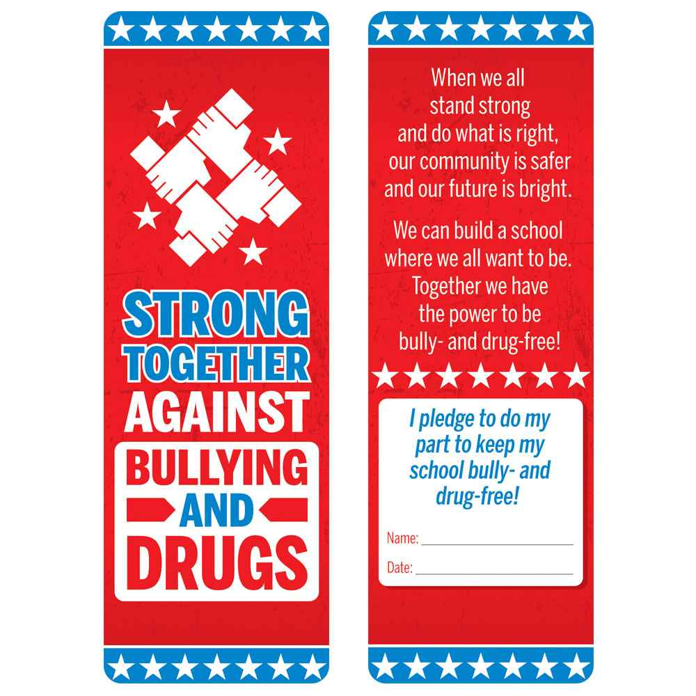 Strong Together Against Bullying And Drugs Bookmark